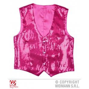Paillettenvest roze