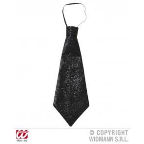 stropdas lurex, zwart
