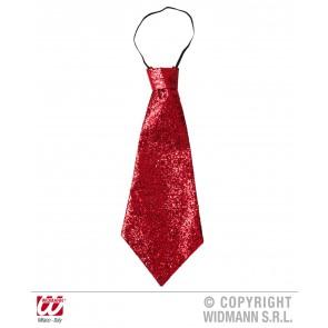 stropdas lurex, rood