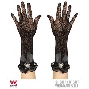 handschoenen spinneweb met strass spin