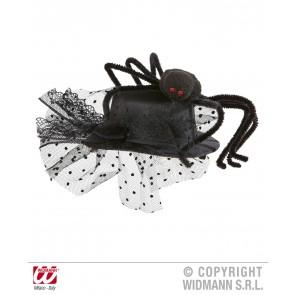 mini hoge hoed met spin