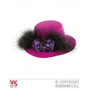 mini hoge hoed rose met rozen