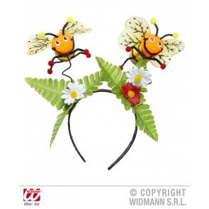 hoofdband bij met bloemen