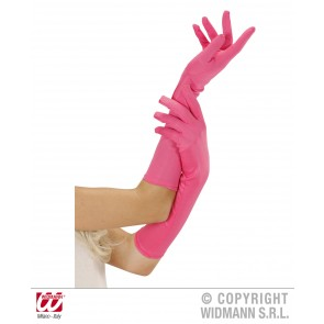 handschoen lang neon, rose
