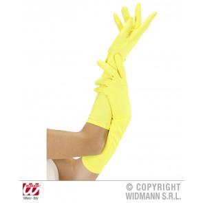 handschoen lang neon, geel