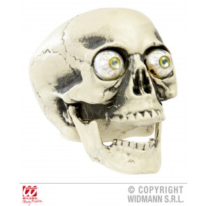 pvc schedel met echt lijkende ogen, 21cm