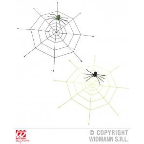 gigantisch spinneweg (220cm) met oplichtende spin