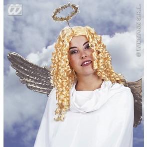 pruik, engel (in plastic doos)