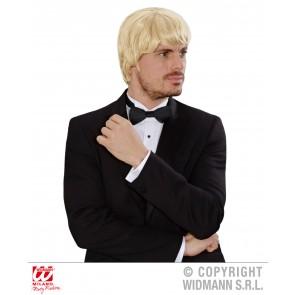pruik droomhaar, musicus blond