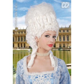 pruik, marie antoinette wit
