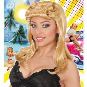 pruik pinup meisje, blond