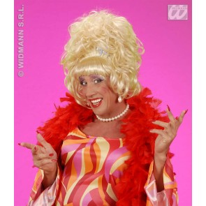 pruik, drag queen blond