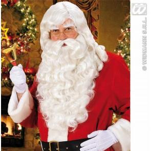 pruik, kerstman met baard/snor/wenkbrauwen
