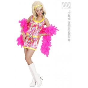 Item:70's Mode Meisje Met Hoofdband, Riem In 3 Kleuren