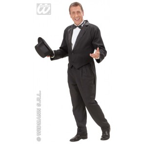 Item:Frackjas Man Zwart Met Satijnen Kraag