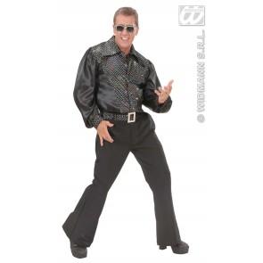 Item:Zwart Shirt Pailletten Man Met Riem
