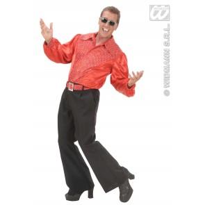 Item:Rood Shirt Pailletten Man Met Riem