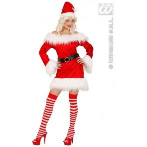 Item:Miss Santa Fluweel/pluche (kostuum + Riem)